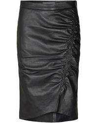 co'couture Harvie leather skirt - Noir