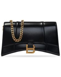 Balenciaga Hourglass Shoulder Bag - Zwart