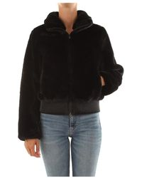 Bomboogie Eco-pelliccia Jacket - Zwart