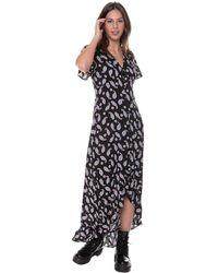 Colourful Rebel Tyra Paisley High Low Maxi Dress - Zwart