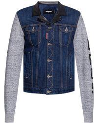 DSquared² - Jacket With Denim Trims - Lyst