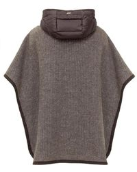 Herno Cape with Hood Marrón