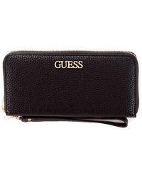 Guess Wallet With Zip - Zwart