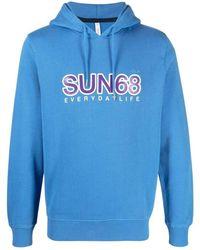 Sun 68 Hoodie - Blauw