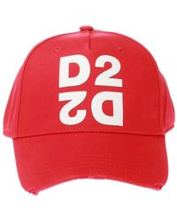 DSquared² Baseball Cap With Logo - Rood