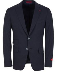 Isaia Single-breasted Suit - Blauw