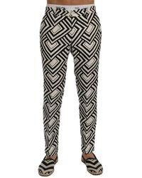 Dolce & Gabbana Linen Casual Pants - Schwarz