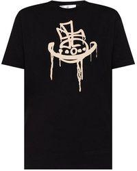 Vivienne Westwood Logo T-shirt - Zwart