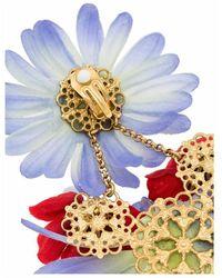 Dolce & Gabbana Pendientes con motivo floral - Morado