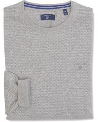 GANT Sweater, Op2. - Grijs