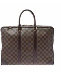 Louis Vuitton Porte documents d'occasion voyage - Marron