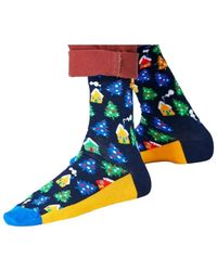 Happy Socks Winterland Socks - Blauw