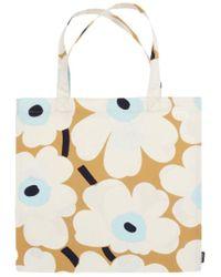 Marimekko Full Unikko cotton bag - Neutre