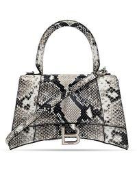 Balenciaga 'hourglass' Shoulder Bag - Grijs