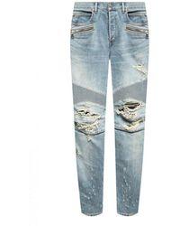 Balmain Jeans With Logo - Blauw