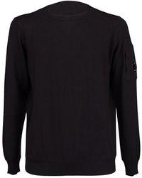 C P Company Side Pocket Sweater - Zwart