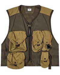 C.P. Company - Gilet Multi Tasche - Lyst