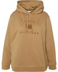 Tommy Hilfiger Hoodie Ww0ww31725 Gw8 - Bruin