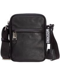 Moschino Cross Body Messenger Bag - Zwart