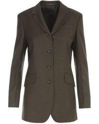 Paul Smith Flannel Buttons Jacket - Groen
