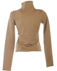 Lemaire Long Sleeve Second Skin Top - Naturel