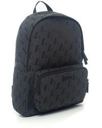 Emporio Armani Canvas rucksack Gris