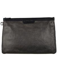 Jimmy Choo Derek clutch bag - Marron