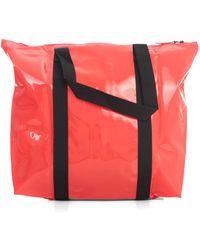 Rains Trasparent Tote Bag - Rood