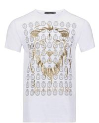 Billionaire Tee shirt logo mtk 1982 chamberlin - Blanco