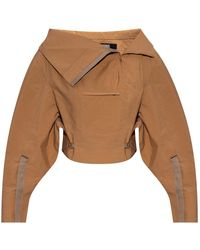 Jacquemus Le Nueve Top With Pockets - Bruin