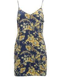 Obey Kyoto Slip Dress - Blauw