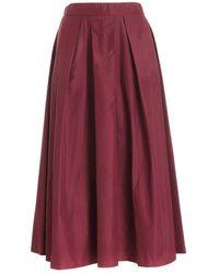 Paolo Fiorillo Capri Pleated midi skirt - Rosso