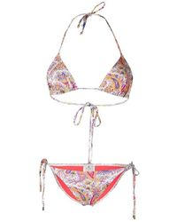 Etro Ibiza Bikini With Paisely Print - Rood