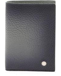 Orciani Micro Deep Leather Wallet - Schwarz