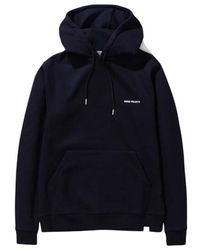 Norse Projects Vagn Logo Hoodie - Blauw