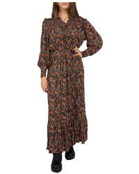 Antik Batik Otto Dress - Bruin