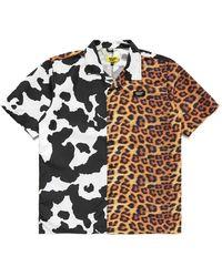 Chinatown Market Shirt With Animal Print - Arancione