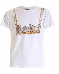 Moschino Necklace To Tshirt - Wit