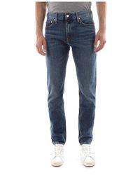 Calvin Klein J30j307629 Slim West Jeans Men Denim Medium Blue - Blauw