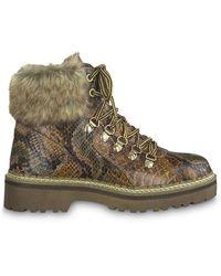 Tamaris Da Stiefel Snake Wl Lace Boots - Bruin