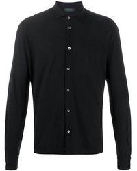 Zanone Polo Neck Shirt - Zwart