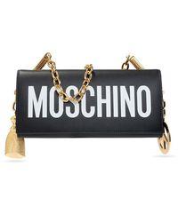 Moschino Shoulder Bag With Logo - Zwart