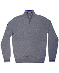 Sun 68 Sweater with zip - Gris
