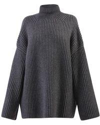 Nanushka Ribbed Knit Sweater - Grijs