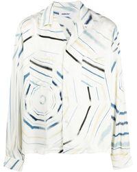 Ambush Printed reg fit pockets shirt - Blanco