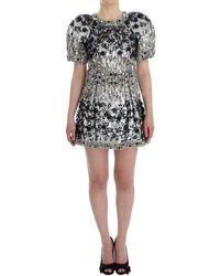 Dolce & Gabbana Crystal Runway Handmade Dress - Wit