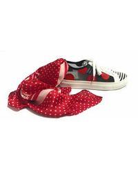 Hope Scarpe Sneaker IN Pelle Nappa E Retina CON Foulard Ds18Ho03 - Schwarz