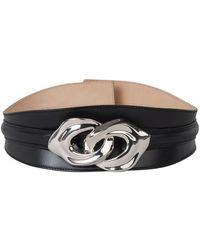 Bottega Veneta Metallic Detail Leather Belt - Zwart