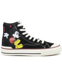 MOA High TOP Mickey Mouse Sneakers - Schwarz