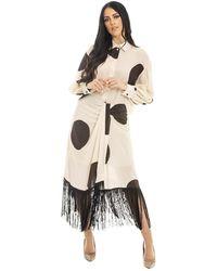 Erika Cavallini Semi Couture Long Cardigan - Naturel